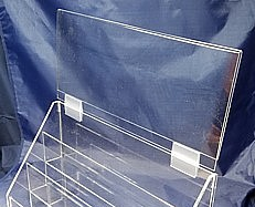 ACD-H16 clear acrylic insertable header for display rack shelf