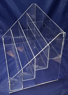 ACD19 4-tier acrylic display rack shelf