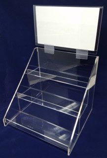 Dividers for ACD30-H 3-tier acrylic display rack shelf with header