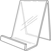 Acrylic Box Easels and Easel displays, J-stands