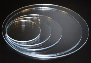 Clear Solid Acrylic Circle or Round Circular Blocks Made from Plexiglas, Plexiglass or Lucite Plastic