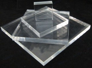 Clear Solid Acrylic Display Blocks Made from Plexiglas, Plexiglass, lucite and plastic