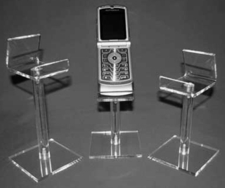 Acrylic Pedestal Stands for Cell Phone, Plexiglas, Plexiglass, plexi, Lucite and Plastic