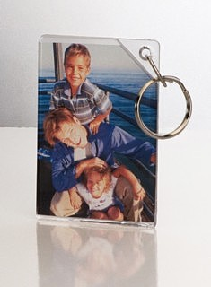 Clear Acrylic Photo Key Ring or Key Chain to Hold Photographs