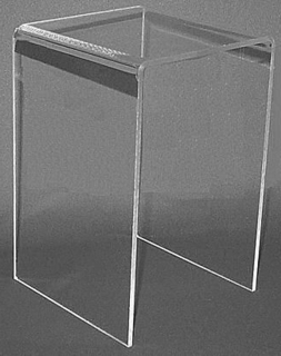 Clear Acrylic Square Tall U Risers in Plexi and Lucite