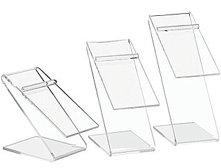 Clear Acrylic Z Shoe Risers and Footwear Display Stands