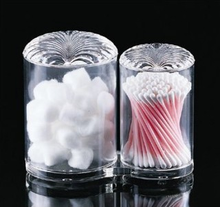 AG-M11 Acrylic Cotton Ball and Cotton Swab Holder