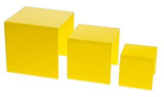 Yellow Acrylic Risers and Plexi Pedestals