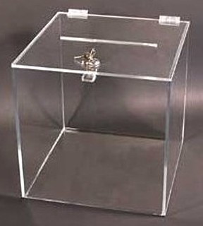 Acrylic Ballot Boxes, Comment Boxes and Suggestion Boxes, Plexiglas, Plexiglass, plexi, Lucite and Plastic