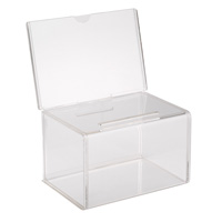 BB1-NL, Plexiglas, Acrylic, Lucite, and Plastic Ballot Box, Comment Box or Suggestion Box