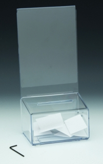 Clear Lexan Locking Coin or Suggestion or Ballot Box