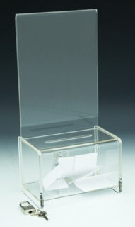 Clear Acrylic Locking Coin or Suggestion or Ballot Box