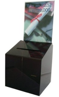BBS-HD Plexiglas, Acrylic, Lucite and Plastic Locking Ballot Box, Comment Box or Suggestion Box