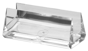 BCHA1 Clear Acrylic Beveled Countertop Business Card Holder