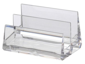 BCHA2 Countertop Multiple Pocket Business Card Holders in Acrylic, Lucite, Plastic, Plexiglas, Plexiglass and Plexi