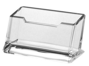 BCHA3 Clear Acrylic Beveled Countertop Business Card Holder