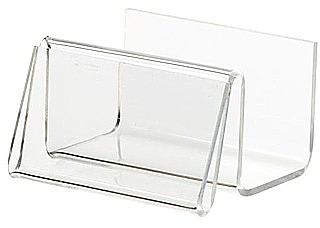BCHA4 Acrylic Business Card Holders with Signholder Front