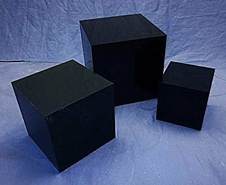 Black Acrylic 5-Sided Cubes