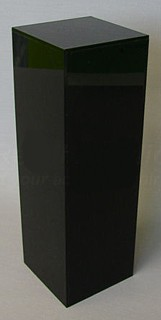 Black Acrylic Tall 5-Sided Boxes, Pedestals and Plinths