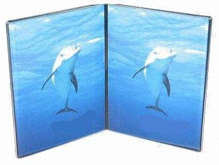 Book Style 2 Panel Photo Display Frames in Acrylic, Plexiglas, Plexiglass, Lucite, Plastic