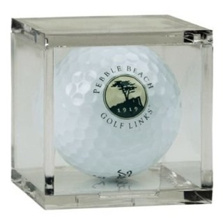BQ1 Clear Molded Styrene BallQube Display case for Golf Ball