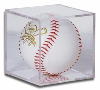 BQ4 Clear Molded Styrene BallQube Display case for Softball
