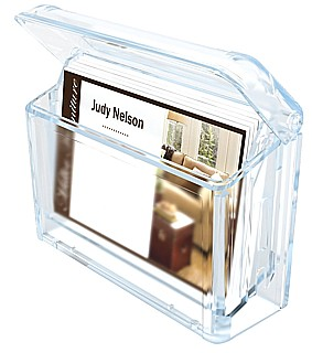 Clear Molded Styrene Wallmount Business Card Holder