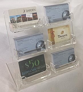 CBC6 Countertop Multiple Pocket Business Card Holders 6 Pockets in Acrylic, Lucite, Plastic, Plexiglas, Plexiglass and Plexi