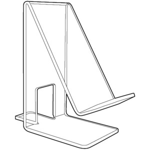 Acrylic Easels and Easel displays for electronic device, J-stands, Plexiglas, Plexiglass, plexi, Lucite and Plastic