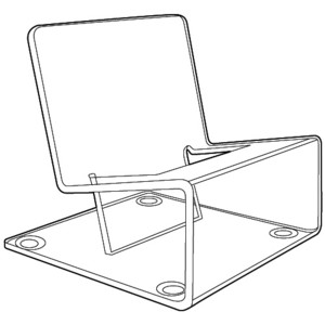 Acrylic Easels and Easel displays for Cell Phone, J-stands, Plexiglas, Plexiglass, plexi, Lucite and Plastic