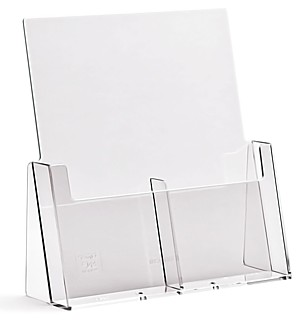 CH2x4 2 Pocket Countertop Literature and Brochure Holder