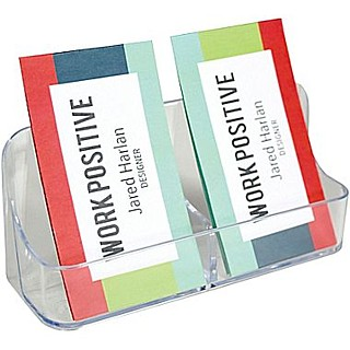 CH2xBCV Countertop Multiple Pocket Vertical Business Card Holders in Acrylic, Lucite, Plastic, Plexiglas, Plexiglass and Plexi