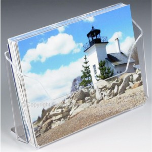 CH64PC Single Pocket Countertop Brochure Holder for Postcards