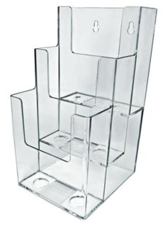 Multiple Pocket Acrylic and Plastic Brochure and Literature Holders, Plexi, plexiglass, plexiglas, lucite