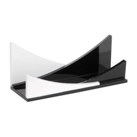CHBC-2C Black and White Countertop Business Card Holders