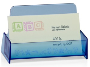 CHBC-BL Transparent Blue Countertop Business Card Holders