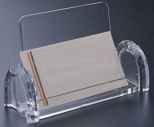 CHBC-DS Clear Acrylic Diamond Sided Countertop Business Card Holder