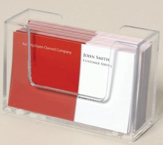 Clear Molded Business Card Holder