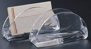 CHBC-R Clear Acrylic Rounded Countertop Business Card Holder
