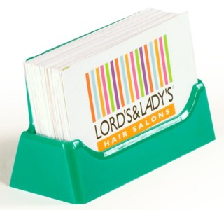 CHBC-T Teal Green Countertop Business Card Holders
