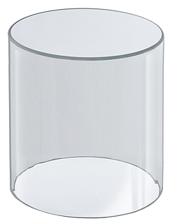 Clear Acrylic Round Cylinder Ring Riser in Plexi or Lucite
