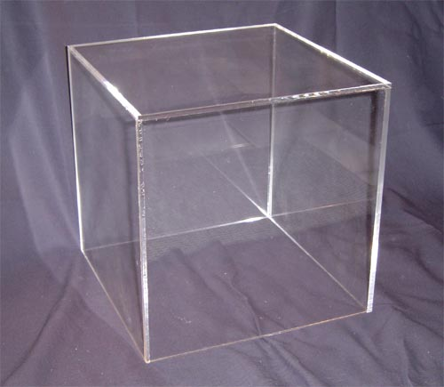 Clear Acrylic 5-Sided Cubes and Plexi Boxes made from Plexiglas, Plexiglass, lucite and plastic