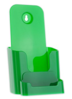 Green Trifold Literature Holder with Business Card Holder