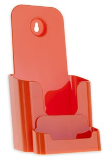 Orange Countertop Wallmount Brochure Literature Holder with Business Card Holder Model CW4BC-O