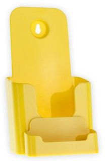 CW4BC-Y Yellow Single Pocket Countertop and Wallmount Brochure Holder with Business Card Pocket