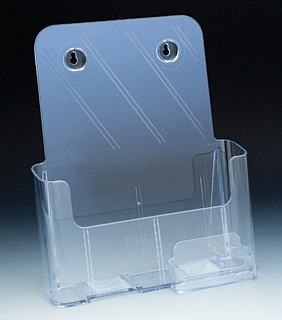 Multiple Pocket Molded Plastic Brochure and Literature Holders