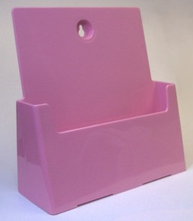 Pink Countertop or Wallmount Brochure Literature Holder Model CW8.5-P