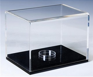 Deluxe Clear Acrylic Display Cases with Black Bases