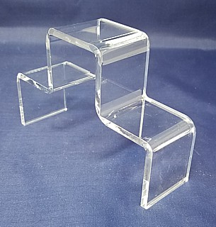 Clear Acrylic 3 Step Double StairStep Platform Riser