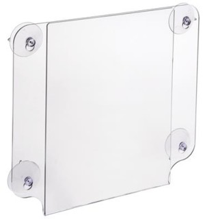 Acrylic Glass Mount Frames and Sign Holders That Mount To Windows with Suction Cups